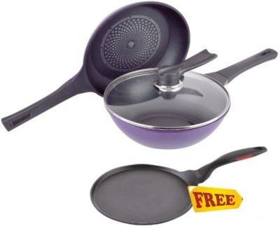 Wonderchef Induction Diamond Cookware Set(Aluminium, 3 - Piece)