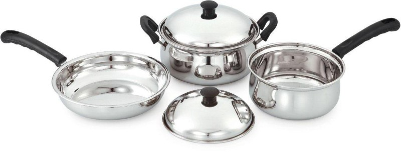 Pigeon Ultima Cookware Set(Stainless Steel, 5 - Piece)