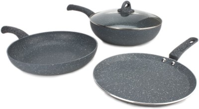 Wonderchef Granite Set Cookware Set(Aluminium, 3 - Piece)