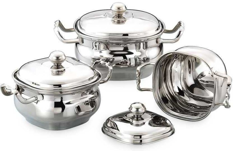 Airan Cookware Set(Stainless Steel, 3 - Piece)