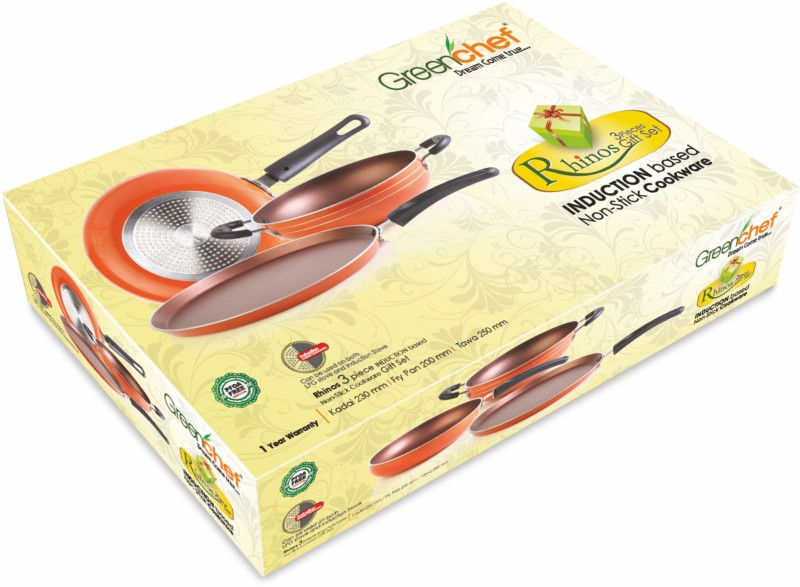 Greenchef Rhinos Cookware Set(PTFE (Non-stick), 3 - Piece)