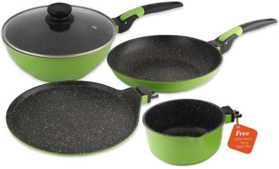 Wonderchef Click Amaze Green Cookware Set(Aluminium, 4 - Piece)