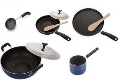 zolon Non Stick Blue Cookware Set