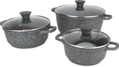 Wonderchef Wonderchef Granite Die-Cast Casserole Set (Induction Base) Cookware Set(Polypropylene, 3 - Piece)