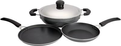 Vijayalakshmi Special Induction Bottom Cookware Set(Aluminium, 3 - Piece)