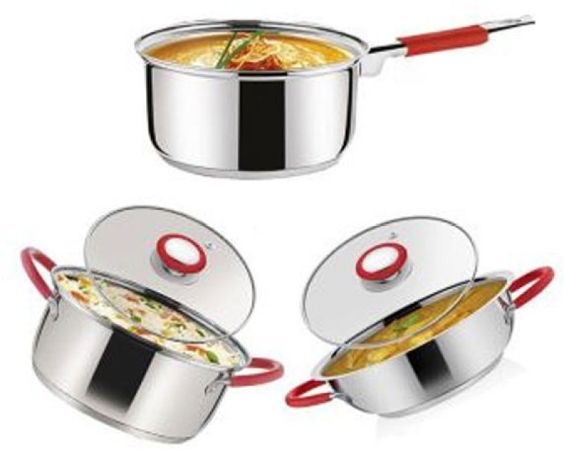 Pogo Cookware Set(Stainless Steel, 3 - Piece)