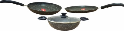 Pigeon Granito Induction Base Cookware Set(Marble, 3 - Piece)