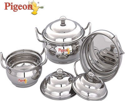 Pigeon Cookware Set(Stainless Steel, 3 - Piece)