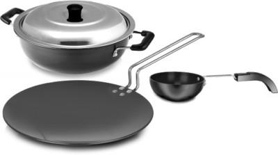 Sumeet 3mm Hardanodised (Superb Six) Cookware Set
