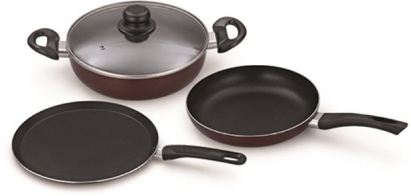 Padmini LSP01 Cookware Set(Aluminium, 3 - Piece)