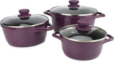 Wonderchef ceramide purple Cookware Set(Ceramic, 6 - Piece)