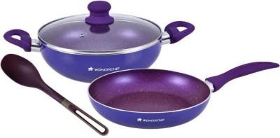 Wonderchef 4 Pc Blueberry WF Set Cookware Set(PTFE (Non-stick), Aluminium, 4 - Piece) at flipkart