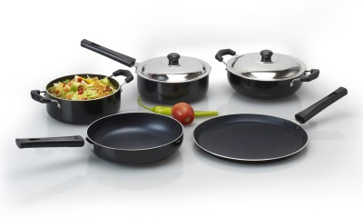 Anjali Cookware Set(PTFE (Non-stick), 7 - Piece)