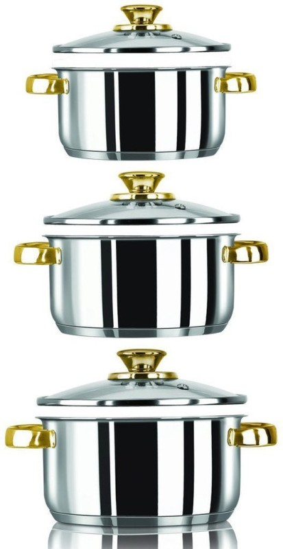 Stahl Gold smith Cookware Set(Stainless Steel, 6 - Piece)