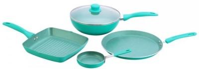 Wonderchef Celebration Blue Cookware Set(Aluminium, 4 - Piece)