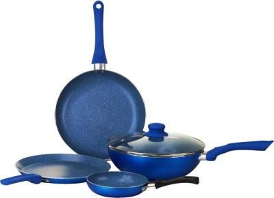 Wonderchef Royal Velvet Blue Set of 4Pcs - Induction Base Cookware Set