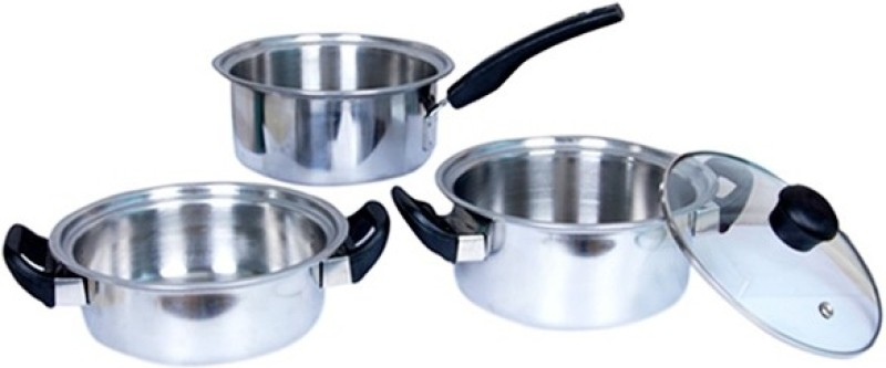 Khaitan Cookware Set(Steel, 4 - Piece)