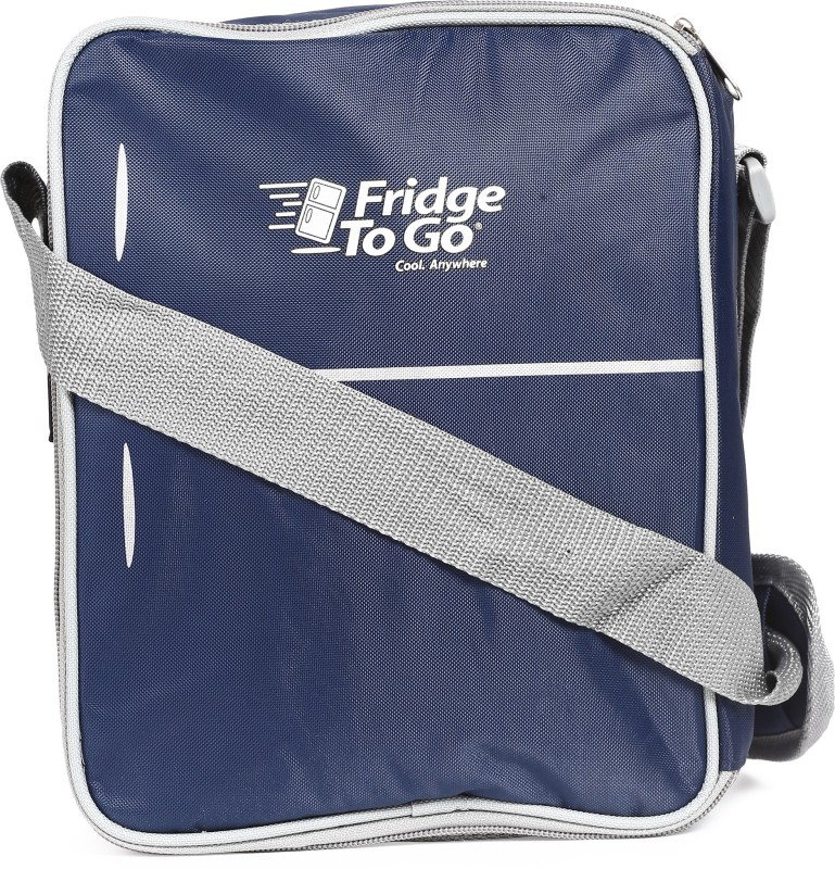 Fridge To Go Nylon, Polyester Cooler Bag(Navy Blue Collapsible)