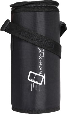 Fridge To Go Nylon, Polyester Cooler Bag(Black Collapsible)