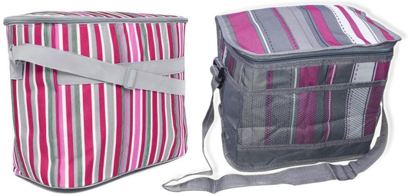 Kawachi Aluminum Cooler Bag(Pink Collapsible)
