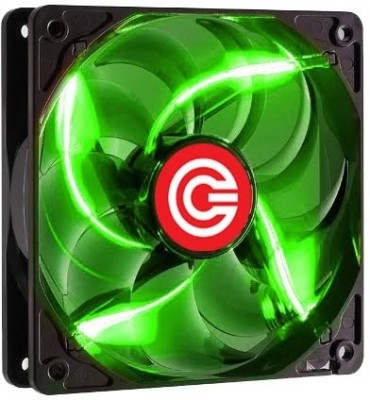 Circle LED Fan C 12 Green Cooler(Green)