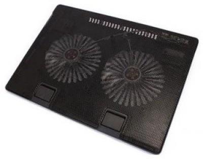 Tech Gear Laptop double fan Cooling Pad(Black)