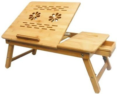 cubee Portable Wooden Laptop Table Cooling Pad(Brown)