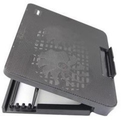 Tech Gear Adjustable Laptop Notbook Stand A2 Fan Cooling Pad(Black)