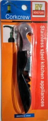HOTWINE Premium Black Stainless Steel Double Lever Corkscrew