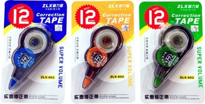 Priyankish Executive 5 mm Correction Tape(Set of 3, Blue, Orange, Green)