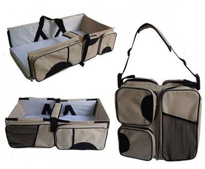 3kFactory Portable Nursery Bed Baby Infant Travel Diaper Bassinet Bassinet(Beige)