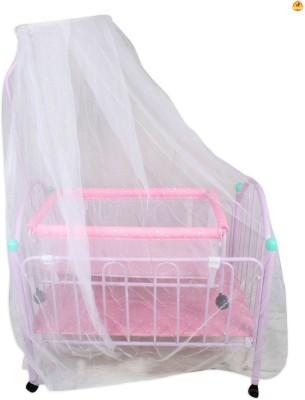 BAYBEE Elita Crib N Cradle (Pink) Bassinet(Pink)