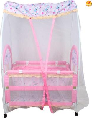 BAYBEE NapTime Crib N Cradle (Pink) Bassinet(Pink)