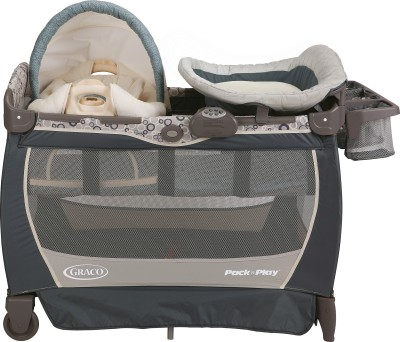 Graco Pack ,n Play Playard with Cuddle Cove Lx Rocking Seat - Brompton Cot(Multicolor)