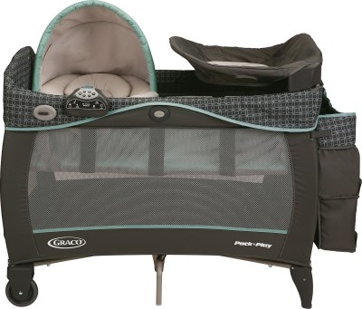 Graco Pack ,n Playplayard with Newborn Napper Station Dlx - Cascade Cot