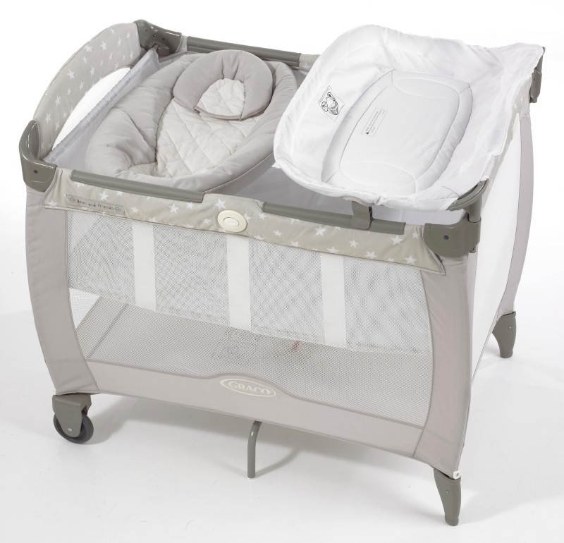 Graco Pack 'n Play Contour Electra Bassinet with Napper - Bear & Friends Cot(Multicolor)