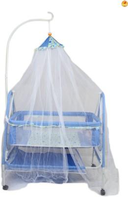 BAYBEE ComfyNest Swing Cradle (Blue) Bassinet(Blue)