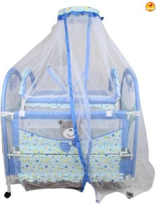 BAYBEE Luxuria Baby Cradle (Blue) Bassinet(Blue)