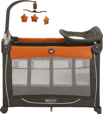 Graco Pack ,n Play Element Playard with Stages - Tangerine Cot(Multicolor)