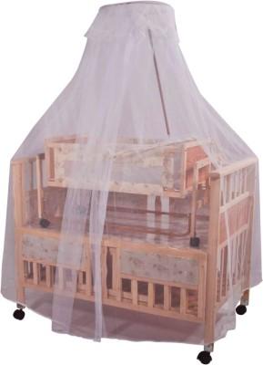 Mee Mee Baby Wooden Swing & Mosquito Net Cot(Beige)