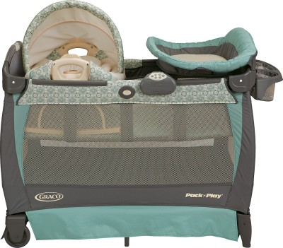 Graco Pack ,n Play Playard with Cuddle Cove Rocking Seat - Winslet Cot(Multicolor)