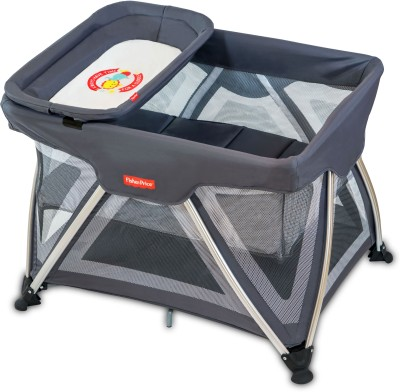 Fisher Price Trance Portable cot(Grey)
