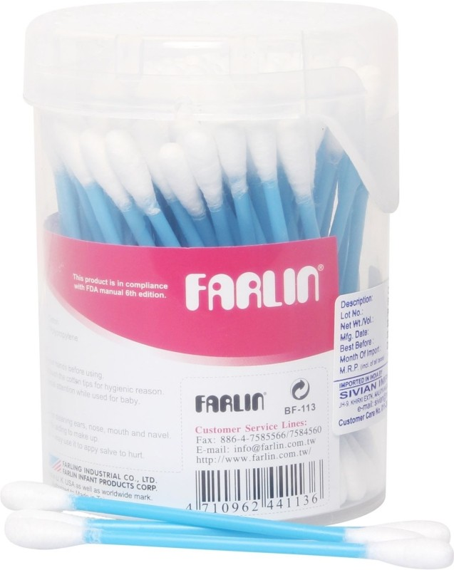 Farlin Cotton Buds - BF 113 Blue(Pack of 100)