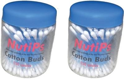 Nutips Cotton Buds Jar 150 Swabs(Pack of 150)