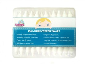 Adore Baby Cotton Swabs-55pc (Pack of 3)