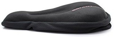 CycleX Soft Silicone Cushion Saddle Pad Bicycle Seat Cover Free Size(Black)