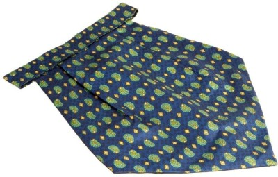 The Vatican Printed Cravat With Blue Base & Green & Yellow Paisleys Cravat