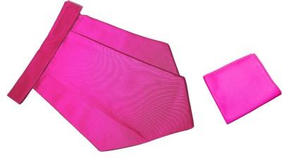 Mentiezi Classic Plain Cravat with Pocket Square Cravat