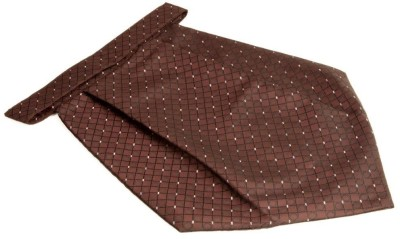 The Vatican Brown Cravat With Black Circle & Box Design in Self Cravat
