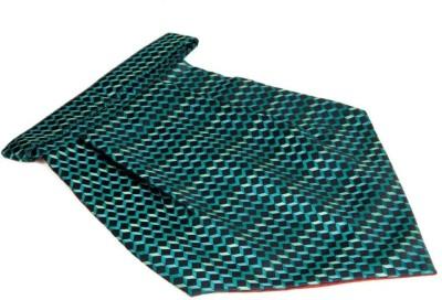 The Vatican Black Turquoise Design Lines Cravat